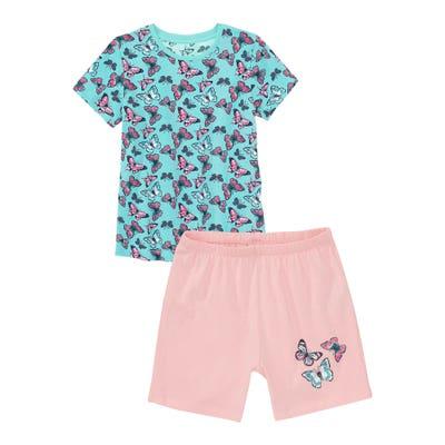 Kinder-Mädchen-Shorty mit bunten Schmetterlingen