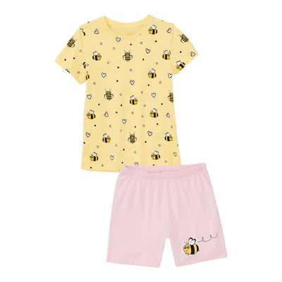Kinder-Mädchen-Shorty mit fleißigen Bienchen