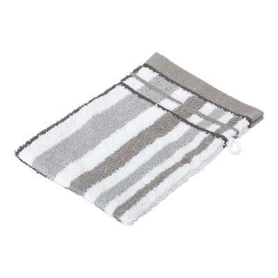 Waschhandschuh mit Streifendesign, 16x21cm