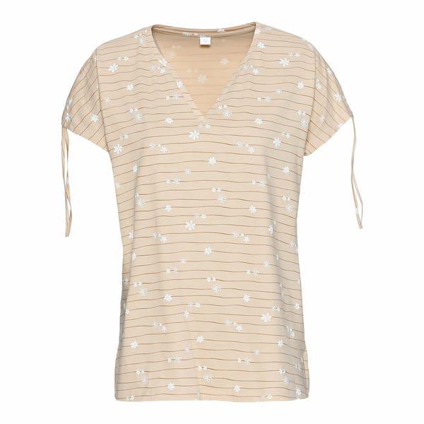 Damen-T-Shirt mit Bindebändchen