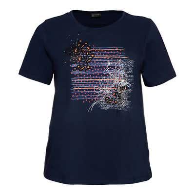 Damen-T-Shirt mit hübschem Frontaufdruck, große Größen