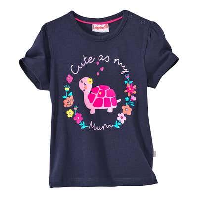 Baby-Mädchen-T-Shirt mit Tier-Aufdruck