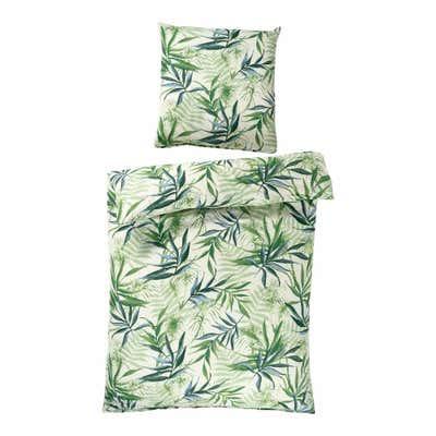 Seersucker-Bettwäsche mit floralem-Design