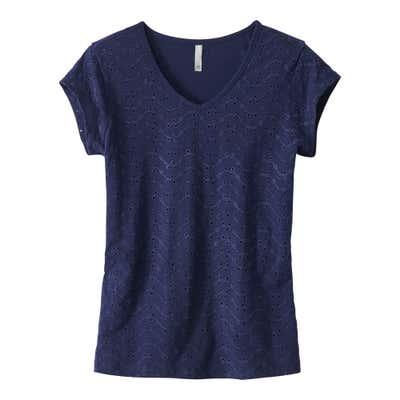 Damen-T-Shirt mit Hohlsaum