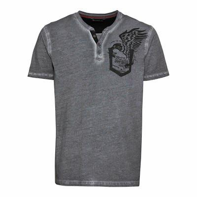 Herren-T-Shirt mit Henley-Ausschnitt