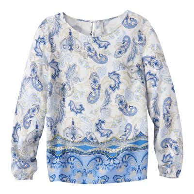 Damen-Bluse mit traumhaftem Muster