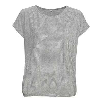 Damen-T-Shirt mit glitzerndem Ringelmuster