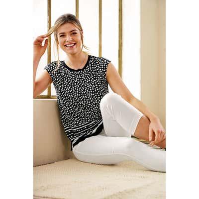 Damen-T-Shirt mit Bordüre