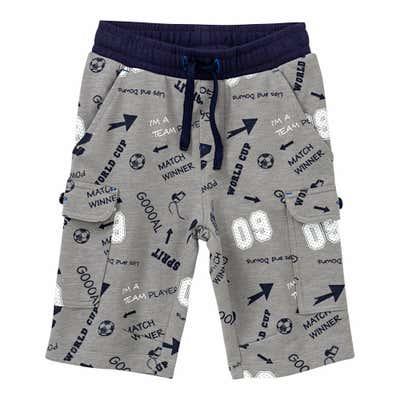 Kinder-Jungen-Bermuda-Shorts im sportlichen-Design