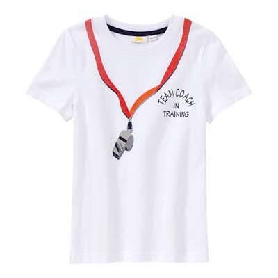 Kinder-Jungen-T-Shirt mit Trillerpfeife-Aufdruck