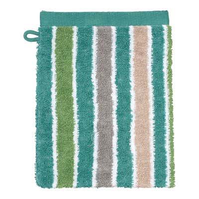 Waschhandschuh mit Streifendesign, ca. 16x21cm