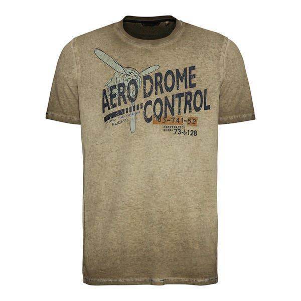 Herren-T-Shirt in Oil-Washed-Optik
