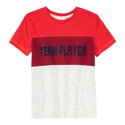 Kinder-Jungen-T-Shirt mit sportlichem Frontprint