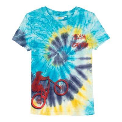 Jungen-T-Shirt mit Fahrrad-Aufdruck