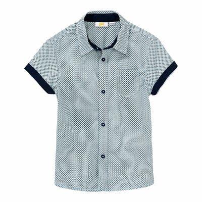Kinder-Jungen-Hemd mit Druck auf der Rückseite