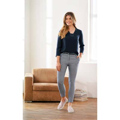 Damen-Hose mit Gürtel