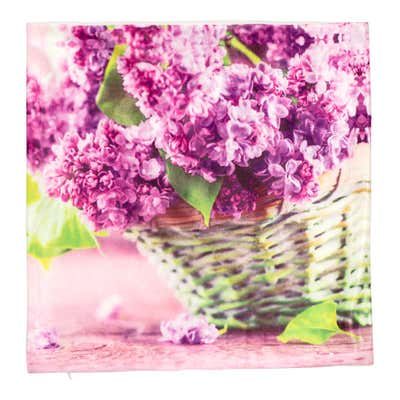 Kissenhülle im floralen Design, ca. 40x40cm