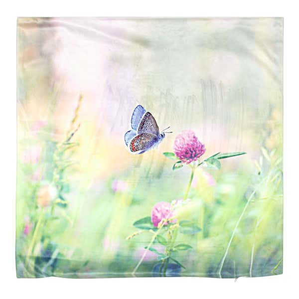 Kissenhülle im floralen Design, ca. 50x50cm