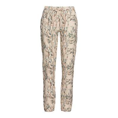 Damen-Stoffhose im floralem-Design