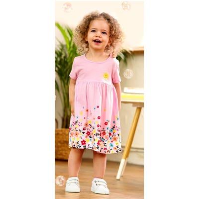 Baby-Mädchen-Kleid mit Blumendruck