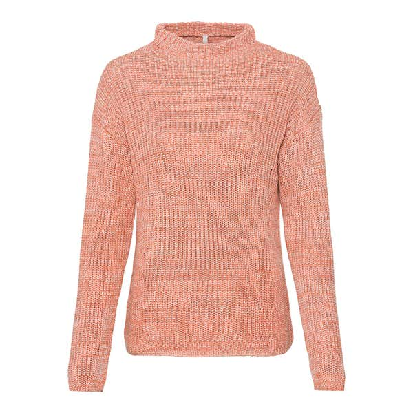 Damen-Pullover in Melange-Optik