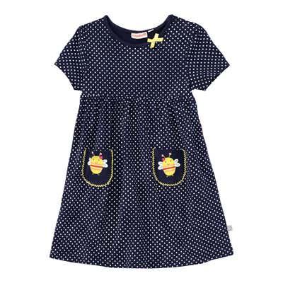 Baby-Mädchen-Kleid mit Bienen-Motiv