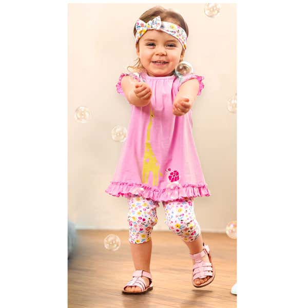 Baby-Mädchen-Set inklusive Haarband, 3-teilig