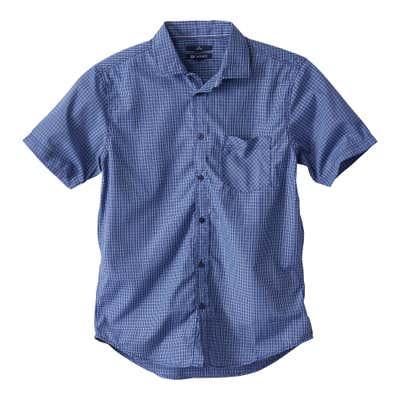 Herren-Hemd mit feinem Schachbrettmuster