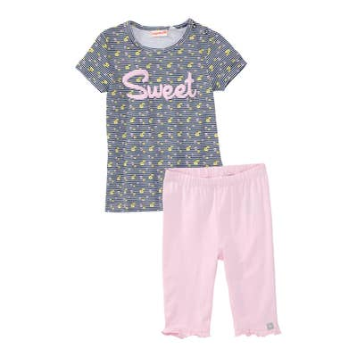 Baby-Mädchen-Set mit tollem Schriftzug, 2-teilig
