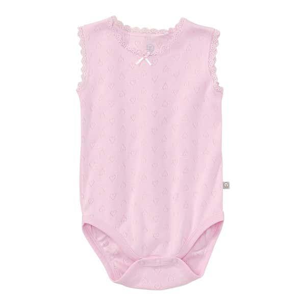 Baby-Mädchen-Body mit Ajour-Herzmuster
