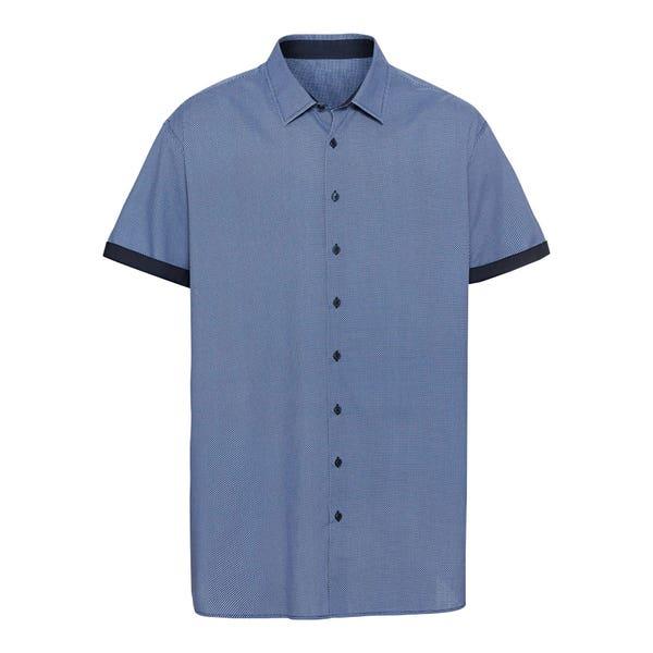 Herren-Hemd mit Kontrast-Streifen, große Größen