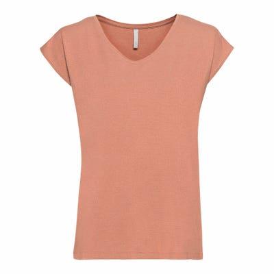 Damen-T-Shirt mit Lurexstreifen