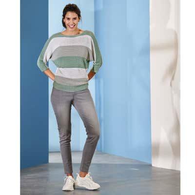Damen-Jeans mit leichten Wascheffekten