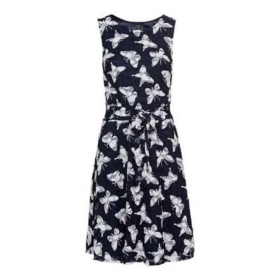 Damen-Kleid mit weißen Schmetterlingen