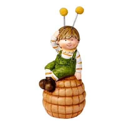 Deko-Figur im Bienenkostüm, ca. 9x8x20cm