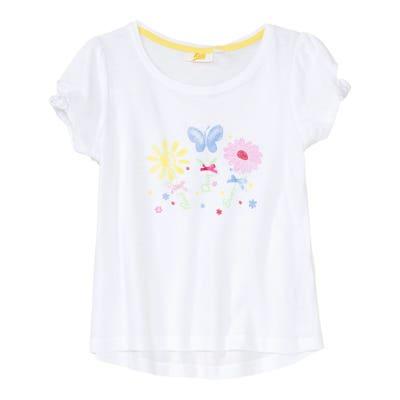 Mädchen-T-Shirt mit kleiner Satin-Schleife