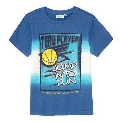 Jungen-T-Shirt mit sportlichem Frontprint