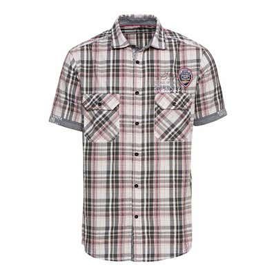 Herren-Seersucker-Hemd mit kleinem Druck