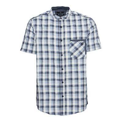 Herren-Seersucker-Hemd mit einer Brusttasche