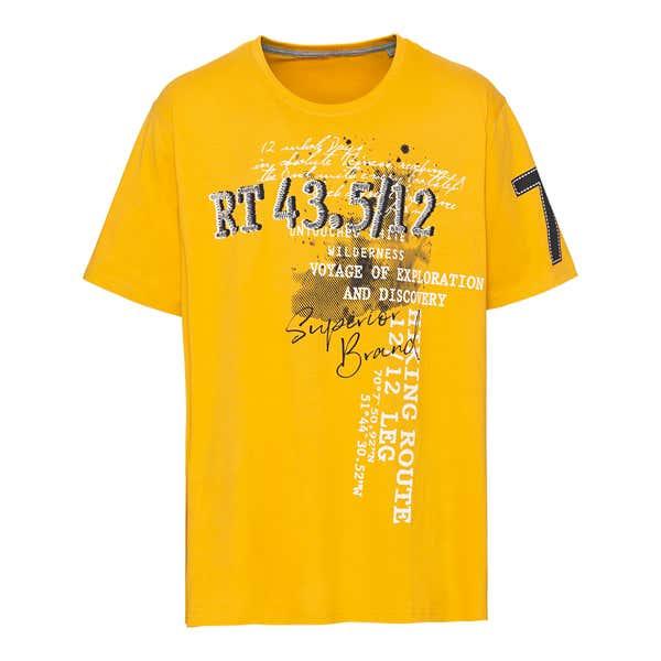 Herren-T-Shirt mit Aufdruck, große Größen