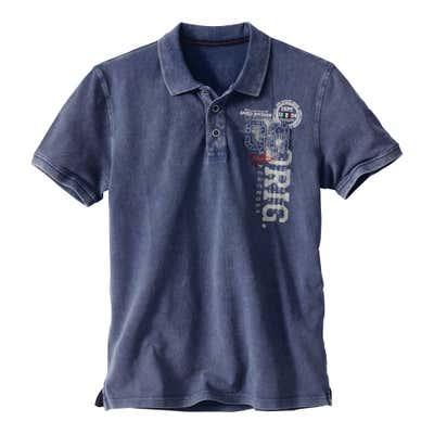 Herren-Poloshirt mit Seitenschlitzen