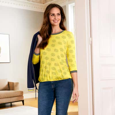 Damen-Shirt mit elastischem Bund