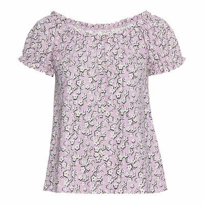Damen-T-Shirt mit elastischem Ausschnitt