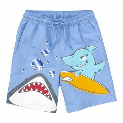 Kinder-Badehose mit Hai-Aufdruck