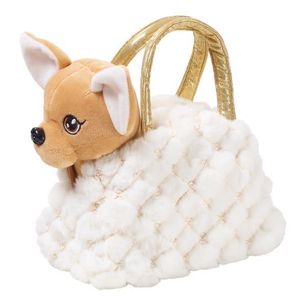 Plüschhund in Handtasche, ca. 20x26x15cm, 2-teilig