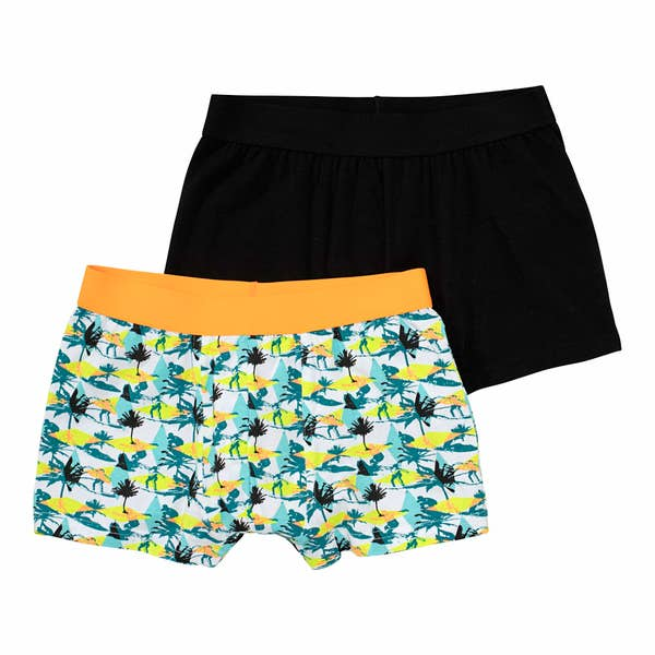 Teenager-Jungen-Retroshorts mit Surf-Motiv, 2er-Pack