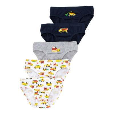 Jungen-Slips mit Baustellen-Muster, 5er-Pack