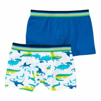 Jungen-Retroshorts mit Meerestieren, 2er-Pack