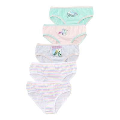 Kinder-Mädchen-Slips, 5er-Pack