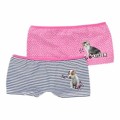 Mädchen-Panty mit Tiermotiv, 2er-Pack